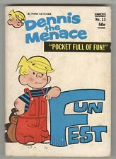 Dennis the Menace Pocket Full of Fun #13 Fun Fest July 1972 paperback