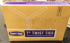 2,000 White 7� Poly-Coated Twist Ties • No Rusting/Separation • 20Lb Paper • Nib