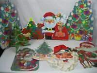 Vtg Christmas 2 sided Bulletin Board Visual Aids Classroom Wall Decor,