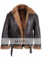 Pilot B3 Aviator Real Sheepskin Leather Bomber Flying Jacket - All Sizes !!!