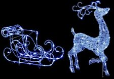 Premier Acrylic Reindeer & Sleigh Christmas Garden Decoration Light
