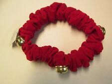 Doggie Red Velvet Collar with Bells by Mud Pie, Size Medium, NWT