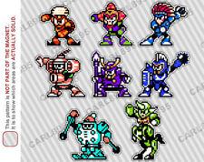 8bit Mega Man 6 Villain Cast Car/Refrigerator Magnets