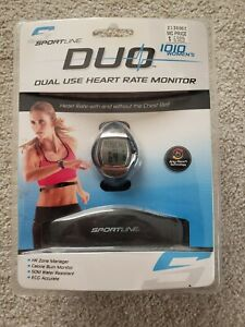 Sportline DUO 1010 Dual Use Heart Rate Monitor New Sealed Watch & Belt