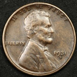 PARTING OUT SET! BEAUTIFUL KEY DATE 1931-S LINCOLN CENT. NO RESERVE!