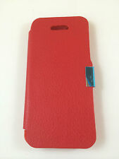 FUNDA CARCASA DE APPLE IPHONE 5 5S 5G DE TAPA CON IMÁN COLOR ROJO