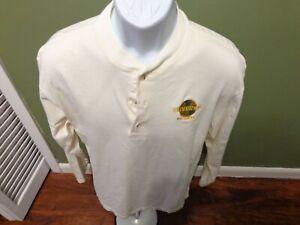 Universal Studios  PICTURES Mens Large Long Sleeve Henley Shirt Vintage 1993