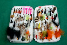 """6"""" Wheatley Dry/Wet fly box with foam lining with 50+ lake flies"""