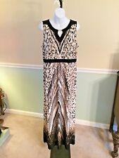 Chico's Black/Tan Print Sleeveless Maxi Dress NWT$ Retail $139 - 2 (Large)