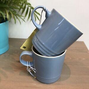 Le Creuset Stoneware Tea/coffee-Mugs/Cup 350ml Mugs Set Of 2 Colour Light Blue