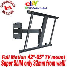 """LED TV SUPER SLIM Wall Mount 42""""-65"""" -15° Tilt 180° Swivel arm 47 50 51 52 55 60"""