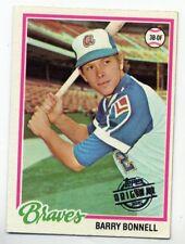 1978 Topps BARRY BONNELL Atlanta Braves RARE BASEBALL CARD #242 2015 ORIGINAL