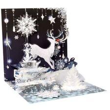 Pop-Up Christmas Card Trearures by Popshots Studios - Reindeer Silhoutte