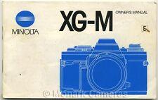 Minolta XG-M 35mm Film Camera Instruction Book, More XGM Manuals & Guides Listed