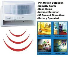 Sans fil mini pir sécurité alarme détecteur de mouvement capteur, home shop & carillon de porte