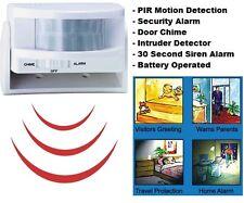 Wireless Mini PIR Security Alarm, Motion Detector Sensor, Home Shop & Door Chime