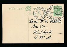 South West Africa 1928 Kg5 Stationery Fine Used Swakopmund Bathing Resort