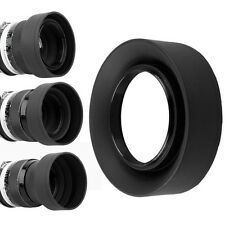 49mm 3-Stage Collapsible Rubber Lens Hood for Sony NEX-7/6/5R & E 55-210/18-55mm