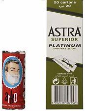 100 Astra Superior Platinum Double Edged Razor Blades + Free Arko Shaving Cream