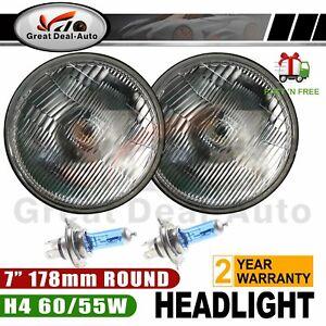 "Headlight Kit Semi Sealed Headlamps with Super Bright H4 60W/55W 7"" Round 178mm"