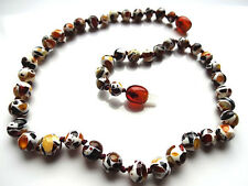 ROUND BEADS MOSAIC  BALTIC AMBER BABY NECKLACES - 10 ITEMS