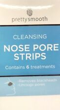 PRETTY SMOOTH CLEANSING NOSE PORE STRIPS REMOVES BLACKHEADS CONTAIN 6 TREATMENTS