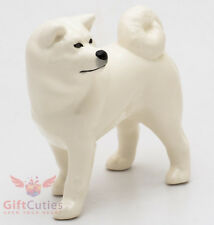 Porcelain Figurine of the White Akita dog