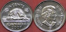 Brilliant Uncirculated 2007 Canada 5 Cents From Mint's Roll