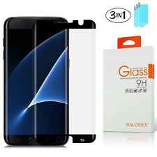 [3x] CASE FRIENDLY 3D Full Curved Glass Screen Protector Samsung Galaxy S7 Edge