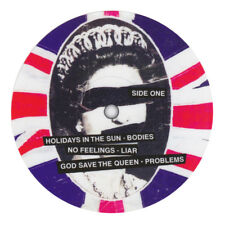 2 x Sex Pistols Never Mind The Bollocks record label vinyl sticker. Punk