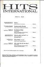 Hits Internatioal Heft 4 * Stimme für Gitarre - Bass