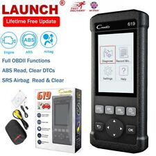 LAUNCH Creader 619 Car OBD2 ABS SRS Airbag Engine Diagnostic Check Scanner Tool