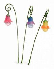 Miniature Fairy Garden Glow-in-the-Dark Flower Picks - Set of 3 - Buy 3 Save $5