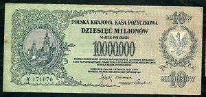 Poland (P39) 10,000,000 Marek 1923 aVF