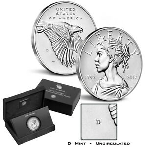 2017-D American Liberty 225th Anniversary 1oz  Uncirculated Silver Medal