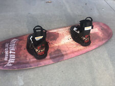 Hydroslide Wakeboard & Boots 145 CM Black Widow Design  w Boots PICK UP ONLY!!!!