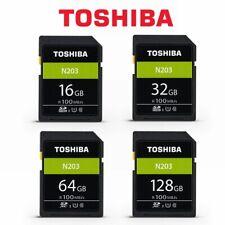 SD Card Toshiba 16GB 32G 64GB 128G N203 Class10 DSLR Video Camera Memory 100mb/s