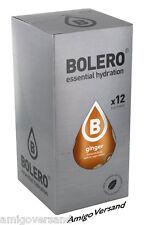 Bolero Drinks – Ginger (zenzero) - 12 bustine per 18 L-con vera estratto zenzero