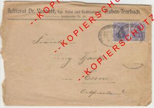 Firmenbrief-Umschlag -- Dr. VONHOFF -- NOTAR -- TRABEN-TRARBACH -> ESENS -- 1909