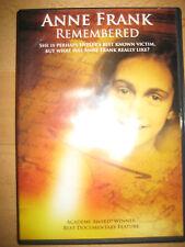 OOP DVD Anne Frank Remembered Jon Blair