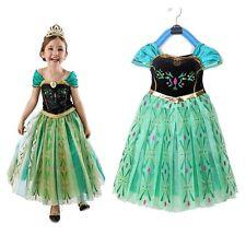 Disney Frozen Princess Anna Elsa Girls Dress Skirt Halloween Cosplay A03 #120