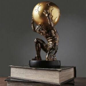 Nordic Atlas Globe Greek Mythology Titan Sculpture Creative Resin Vintage Statue