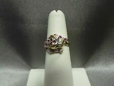 Panther Ring 14K Yellow Gold Ruby and Sapphire