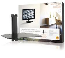 Omnimount mobilier étagère (noir) avec verre noir pour blu-ray/xbox/sky box etc