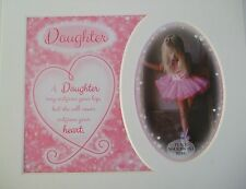 """ Daughter ""Keepsake photo mount to fit 8"" x 10"" Bedroom Living Room Home Office"