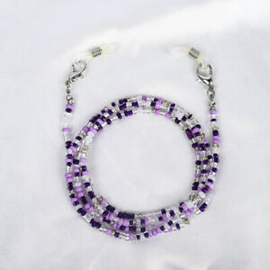Purple Adjust Length Face Cover Rope For Women Neck Chain Glasses Accessories