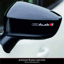 AUDI SPORT 10 Year Cast Vinyl Decals Stickers x 4-Premium Quality