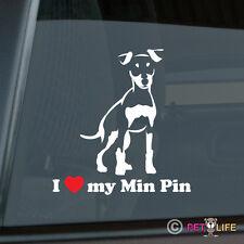 I Love My Miniature Pinscher Sticker Die Cut Vinyl - Min Pin