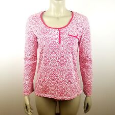 Laura Ashley Women's Size Small Long Sleeve Scoop Neck Long Sleeve Shirt Floral