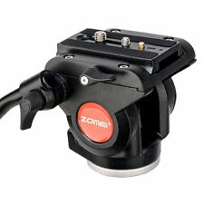 ZOMEi Video Camera Fluid Drag Head with Sliding Plate for DSLR Cameras Camcorder